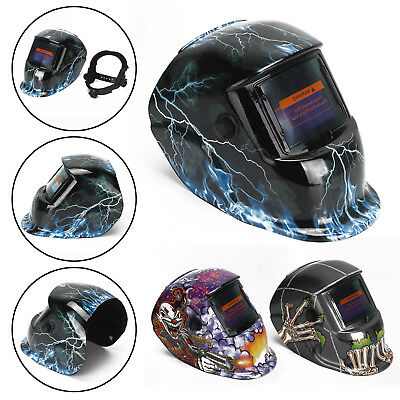 Face Mask Auto Darkening Welding Helmet Welders Mode Solar Powered Grinding New