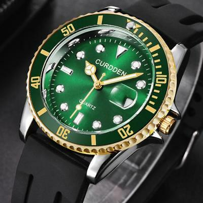 Men's Military Steel Military Date Quartz Analog Army Casual Dress Wrist Watches