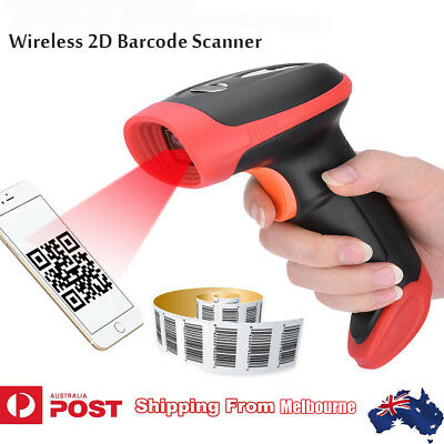 Portable Barcode Scanner 2D/QR Reader Bluetooth Wireless Phone Screen Imager