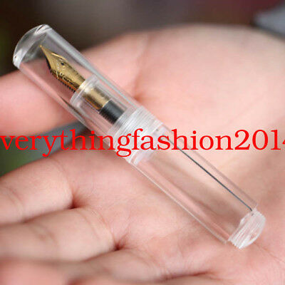 Test Moonman Wancai M2 Mini Fine Nib 0.5mm Transparent Ink Sac Fountain Pen
