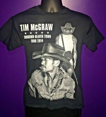 Tim McGraw Sundown Heaven Town Tour 2014 Concert T Shirt Medium Men's Merch