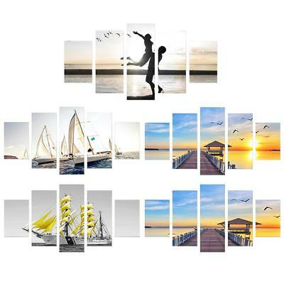 Seaside View HD Printed Canvas Paintings 5 Piece Frameless Wall Art Picture
