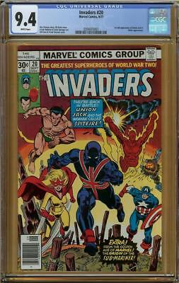 Invaders #20 CGC 9.4 Hitler Appearance 1st Full Appearance Union Jack II