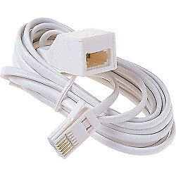 Dencon 5m Telephone Extension Cable Lead Phone Fax Modem UK BT *High Quality*