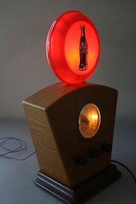 Coca-Cola 1934 Vintage Style AM/FM Radio Red Disc Lighted Globe & Dial, works