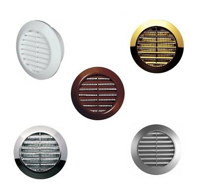 Mini Round Air Vent Grille 60mm with Flange and Fly Screen Ventilation Cover