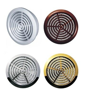 Mini Round Air Vent Grille 80mm with Flange and Fly Screen Ventilation Cover
