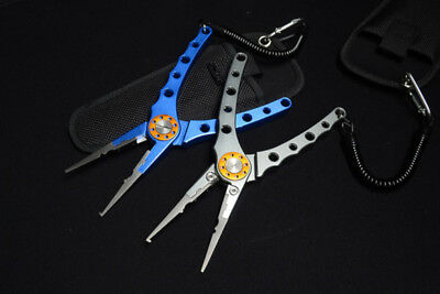 Tungsten Steel Alloy Fishing Pliers Hook Remover Line Cutter MPE02 Blue or Grey