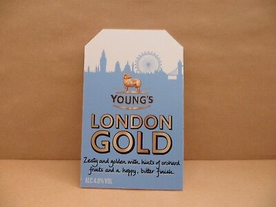 YOUNGS  LONDON GOLD  Beer Pump Clip Pub Bar Collectible NEW MAN CAVE