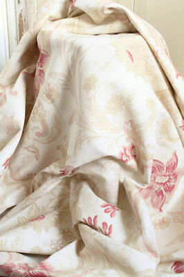 """Laura Ashley Printed Linen Weave Printed Cotton Fabric Parchment Baroque 36""""x18"""""""