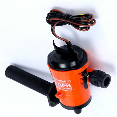 12v 800gph Bilge Pump Livewell Bait Tank Aerator Submersible Cartridge-  Canada