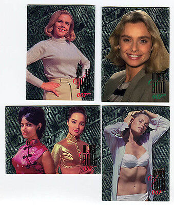 JAMES BOND Connoisseur's Collection Trading Card Women of Bond Chase Lot of 4