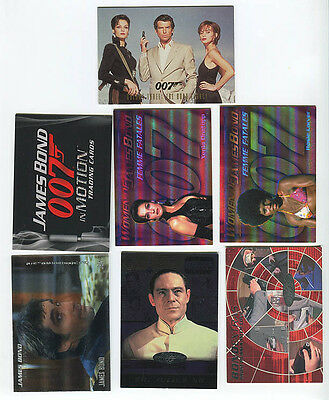 JAMES BOND Trading Card Promo and Chase card lot of 7