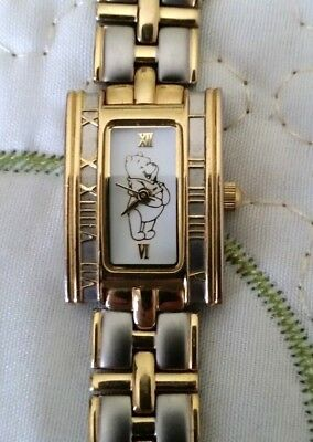 The Disney Catalog Winnie The Pooh Gold & Silver Young Ladies Bracelet Watch