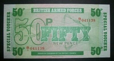 BRITISH ARMED FORCES 50 NEW PENCE Banknote 6th series
