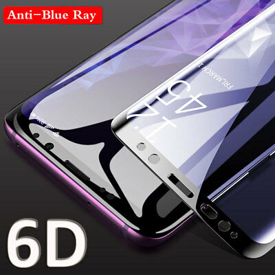 6D Anti-Blue Ray Tempered Glass Full Screen Protector for SAMSUNG S7E S8 S9 Plus