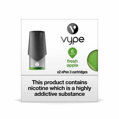 VYPE EPEN 3 Fresh Apple 6mg-18mg ePen3 Caps Refill Cartridge|up to 10 Packs