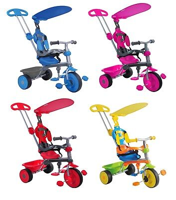 Kids Pedal Bike Trike Bicycle Tricycle Push Along Baby Buggy 3-in-1 Stroller