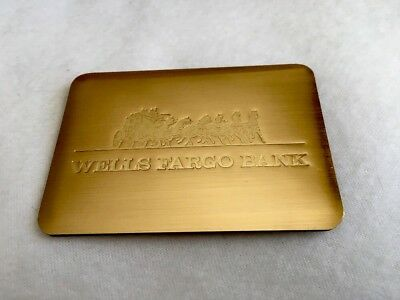 Wells Fargo Metal Gold Tone Address Book Vintage 1980s