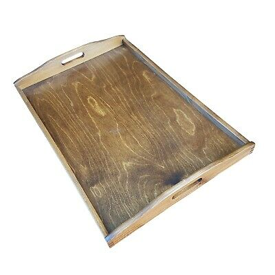 Extra Large Wooden Serving Tray 60 cm x 40 cm x 5.5 cm in Brown Color