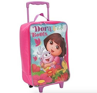 Kids Luggage Dora The Explorer Cabin Suitcase Small Carry-On Bag Pilot Case Pink