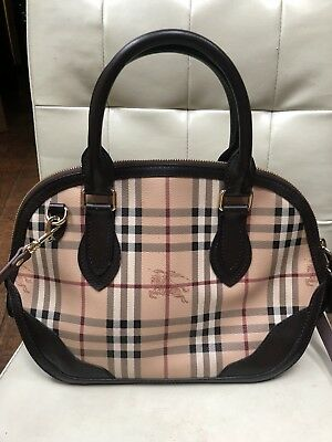198c91160 BURBERRY ORCHARD HANDBAG Haymarket Check Plaid Dome Satchel Bag ...