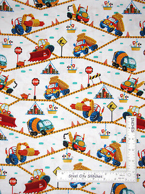 Building the Town Construction Stripe Connector Playmat by the 1//2 Yard #21475
