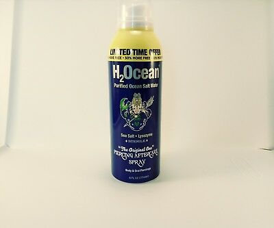H2Ocean Natural Sea Salt Piercing Aftercare Spray 6 ounce body jewelry limited