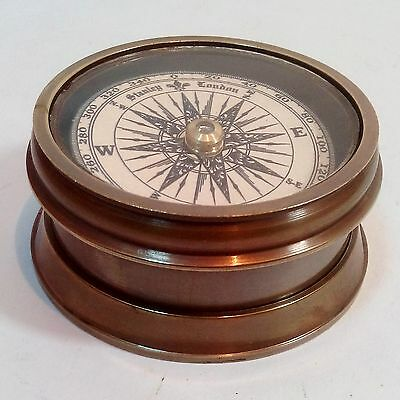 Nautical Antique Solid Brass Floating Dial Doom Compass Mini Drum Compass