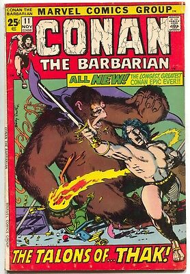 Conan The Barbarian 11 Marvel 1971 VG FN Giant Size Barry Windsor Smith