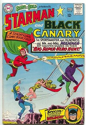 Brave And The Bold 62 DC 1965 VG FN Starman Black Canary 1st Silver Wildcat