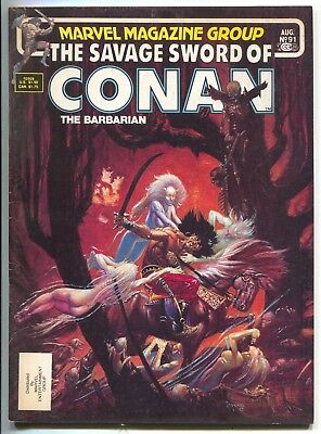 Savage Sword of Conan 91 Marvel 1983 FN Michael Kaluta Forest Nymph Nude