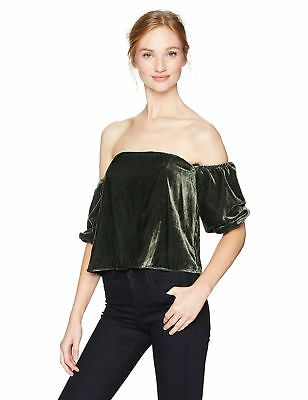 1a96e0de33 Guess Women s Three Quarter Sleeve Off Shoulder Danica Top