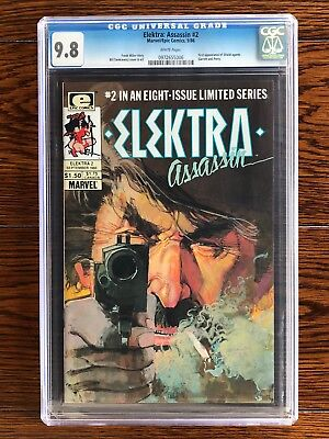 Elektra Assassin #2 - CGC 9.8 NM/MT (1986) - First Appearance of Shield Agents!