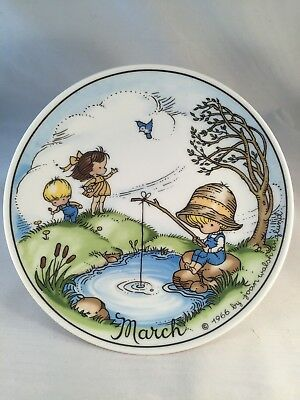 """Joan Walsh Anglund 1966 March Vintage Decorative Plate 7 3/4"""" diameter"""