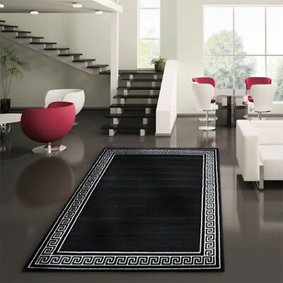 NEW Greek Key Black Rug - Network,Rugs