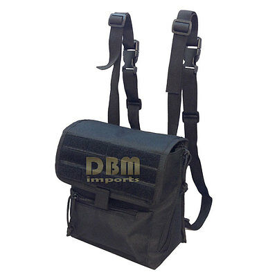Tactical Large Binocular Pouch MOLLE PALS Webbing Solft Padded Interior Black