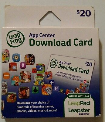 Leapfrog app center download card works with leappad tablets 20 leapfrog app center download card for leapster explorer leappad sealed gumiabroncs Gallery