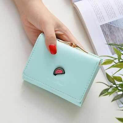 Lovely PU Fruit Design Women Girl Short Wallet Lady Coin Purse Card Holder bags