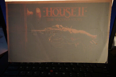 House II 2 movie video  peel and stick window sticker promo 1987 vintage horror