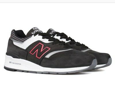 New Balance 997 Suede Retro Running Shoes Black White Red Silver SZ M997CR