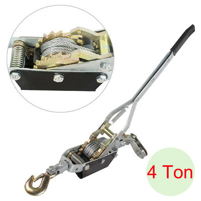 4Ton Come Along Hoist Ratcheting Hand Cable Winch Puller Crane Comealong From US