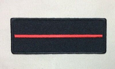Thin Red Line Fire Fighter Patch Iron On