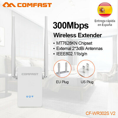 COMFAST 300Mbps Wireless WiFi Router AP Repetidor Extensor Booster WPS BLANCO ES