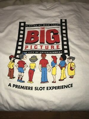 MGM GRAND LAS VEGAS HOTEL CASINO T SHIRT XL THE BIG PICTURE - See Description