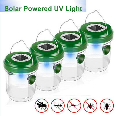 1Pc Wasp Trap Catcher Life Outdoor Solar Powered Trap With Ultraviolet LED Y8U5