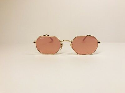 574ae16e9ba NEW Authentic Ray-Ban Copper Octagonal Flat Lenses Sunglasses RB3556N 001 Z2