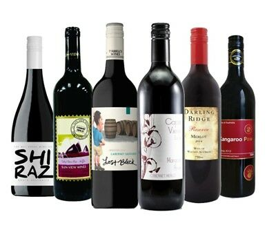 $52 Delivered AU Red Wine Feast Mixed 6x750ml RRP$119 Free Shipping