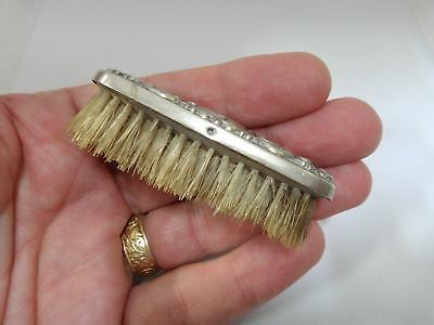 Miniature Silver Plated Edwardian Brush c. 1900-1910