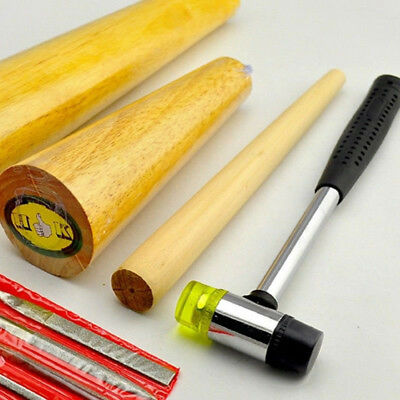 Hot DIY Bracelet Bangle Finger Ring Making Shaping Mandrel Jewelry Hammer Tools